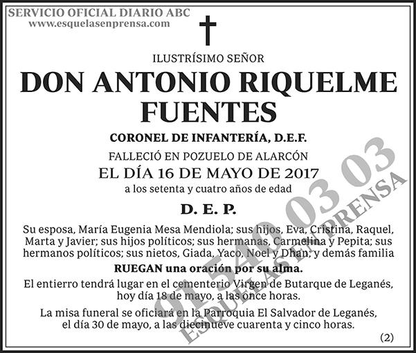 Antonio Riquelme Fuentes